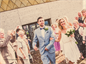 Couple exit Wedding Chapel Blackpool, seaside wedding venue