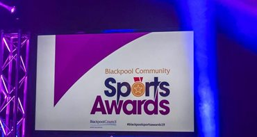 Sports Awards logo on a screen