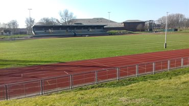 Athletics track and in field at Blackpool Sports Centre