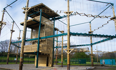 Picture of High Ropes course located at Blackpool Sports Centre