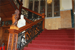Blackpool Town Hall Stairs and statue