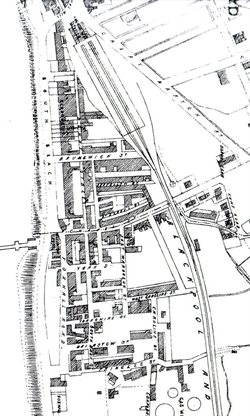 Historic Street Map of Blackpool from 1877