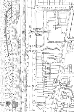 Details of 1893 OS Map showing 3 promenades and imperial hotel