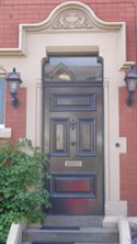 Original late Victorian panelled front door