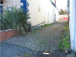 Fig. 25 Setted rear alley next to the No.3 pub