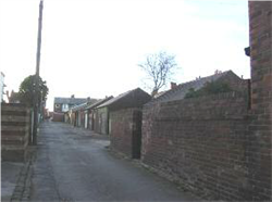 Fig. 26 Rear alley and garages between Lincoln Road and Whitegate Drive