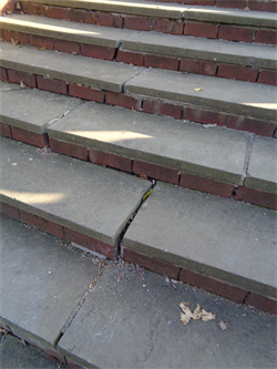 Italian Garden steps in need of repair