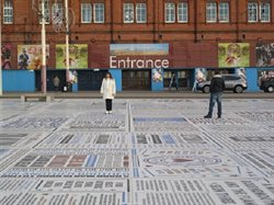 Fig. 21 Comedy Carpet looking towards Blackpool Tower
