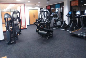 Inside the gym at Blackpool Sports Centre