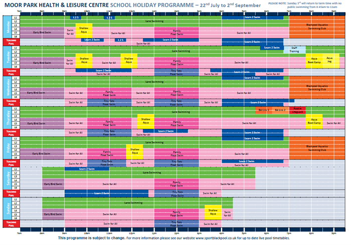 Swimming Pool Timetables