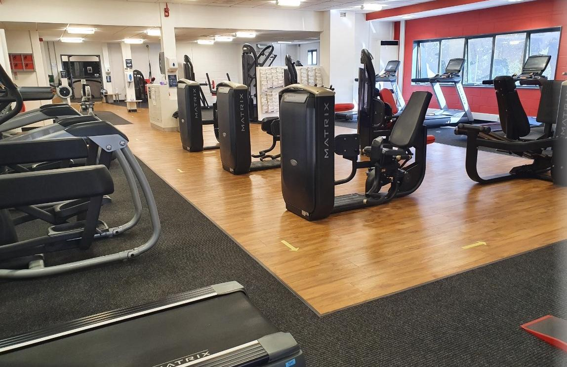 Cardio equipment at Blackpool Sports Centre