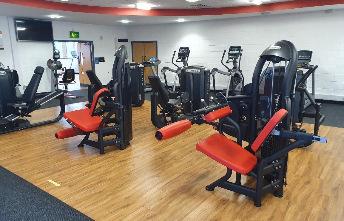 Assisted weights area at Blackpool Sports Centre