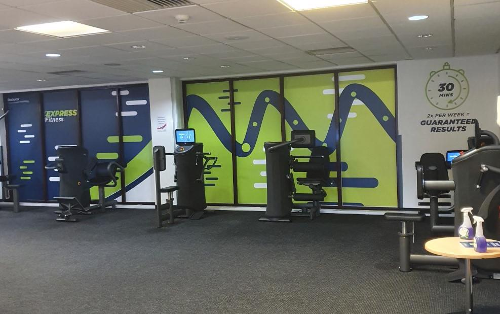 Image shows the express fitness equipment