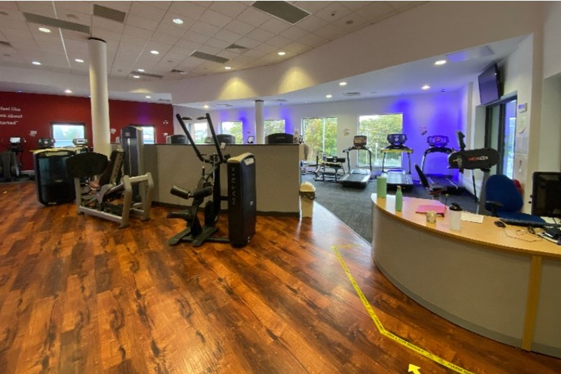 Image shows the entry to Moor Park gym