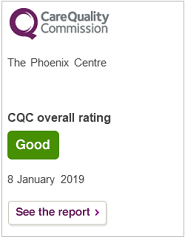 Care Quality Commission - The Phoenix Centre CQC overall rating Good 8 January 2019.