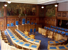 Blackpool Council Chamber with centre chairs