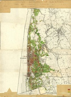 Fig 1 -  Map of Blackpool from 1947.