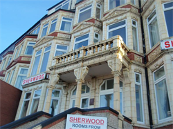 Locally listed former Sherwood Hotel on the southern edge of Gynn Square