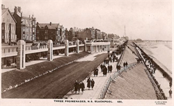 Various walkways on Blackpools upper promenade and North promenade from 1920